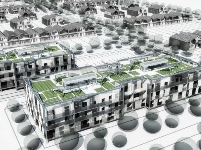 Биоклиматический многоквартирный жилой дом