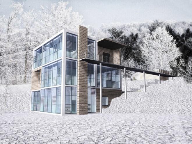 Дом под горой